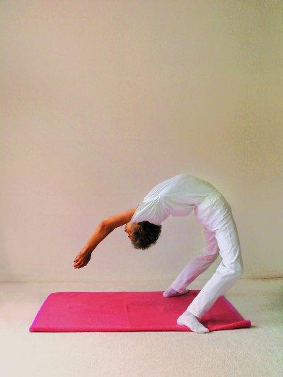Yogastellung Rad Schritt 3