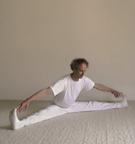 Yogastellung Weite Dehnung